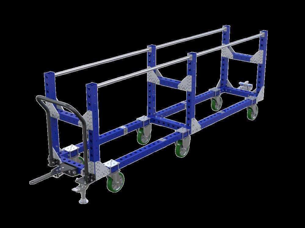 Large FlexQube crankshaft cart with tow bar