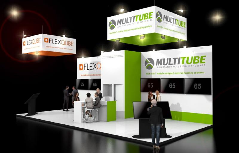FlexQube booth at trade show in Netherlands