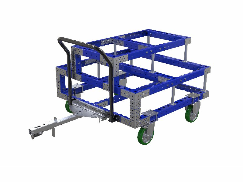 FlexQube Material Handling crank shaft cart