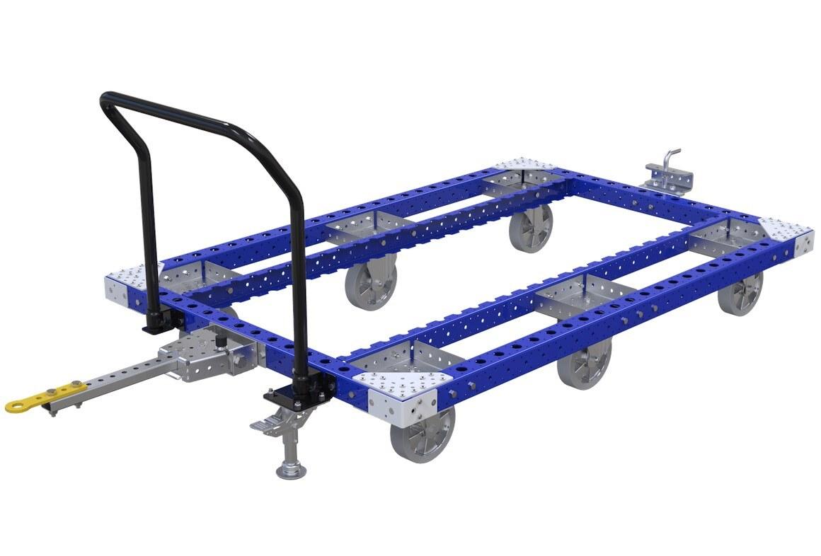 pallet tugger cart for warehouse material handling