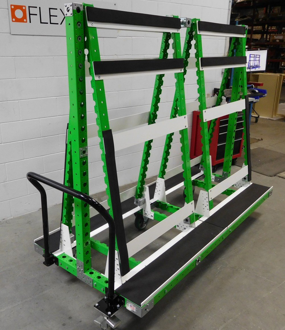 FlexQube windshield cart for automotive parts