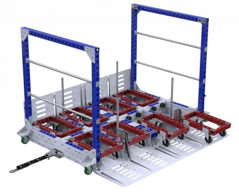 FlexQube 8 in 1 mother-daughter cart system