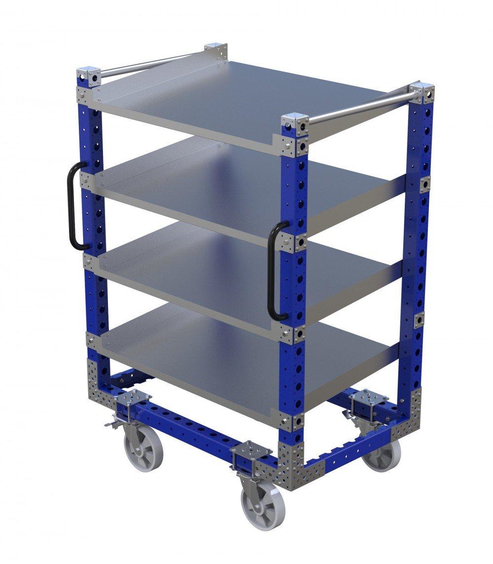 FlexQube flow shelf cart with handles