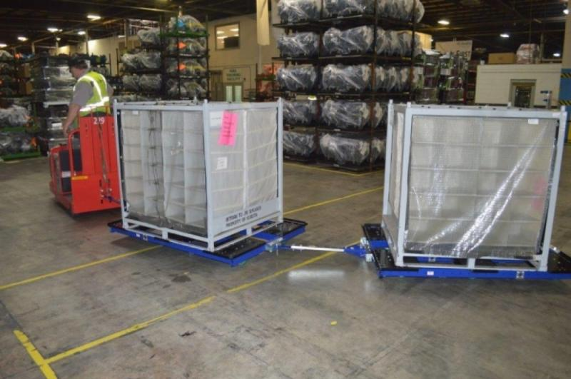 FlexQube Material Handling tugger carts