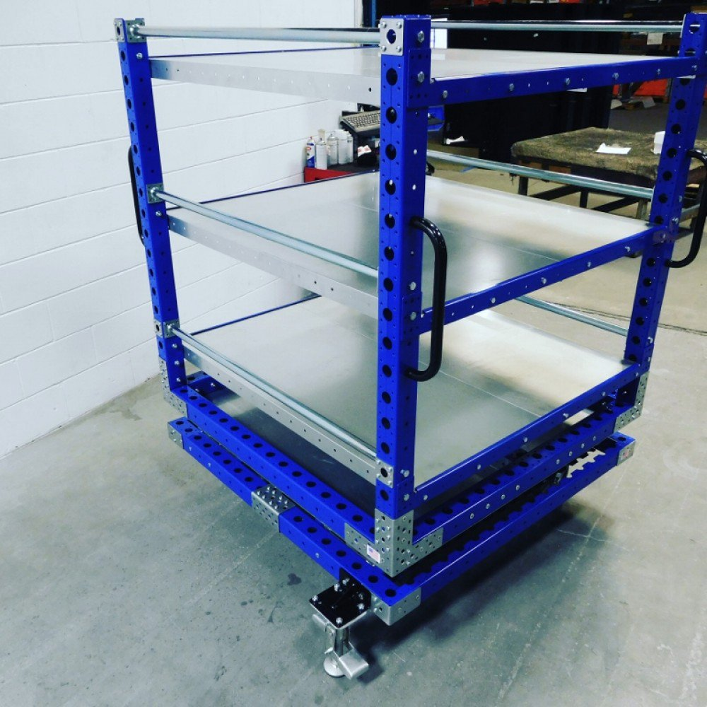 Industrial rotating cart by FlexQube