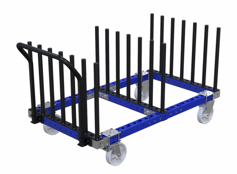 Modular material handling stage cart by FlexQube