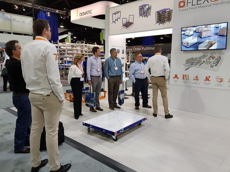 FlexQube smart cart at MODEX 2018