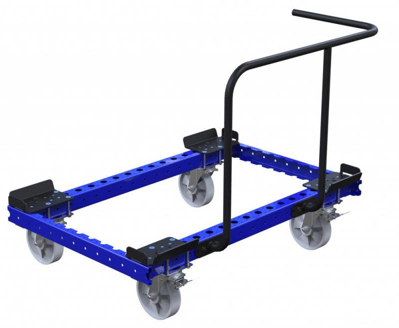 FlexQube Material Handling pallet cart with two sided handlebar