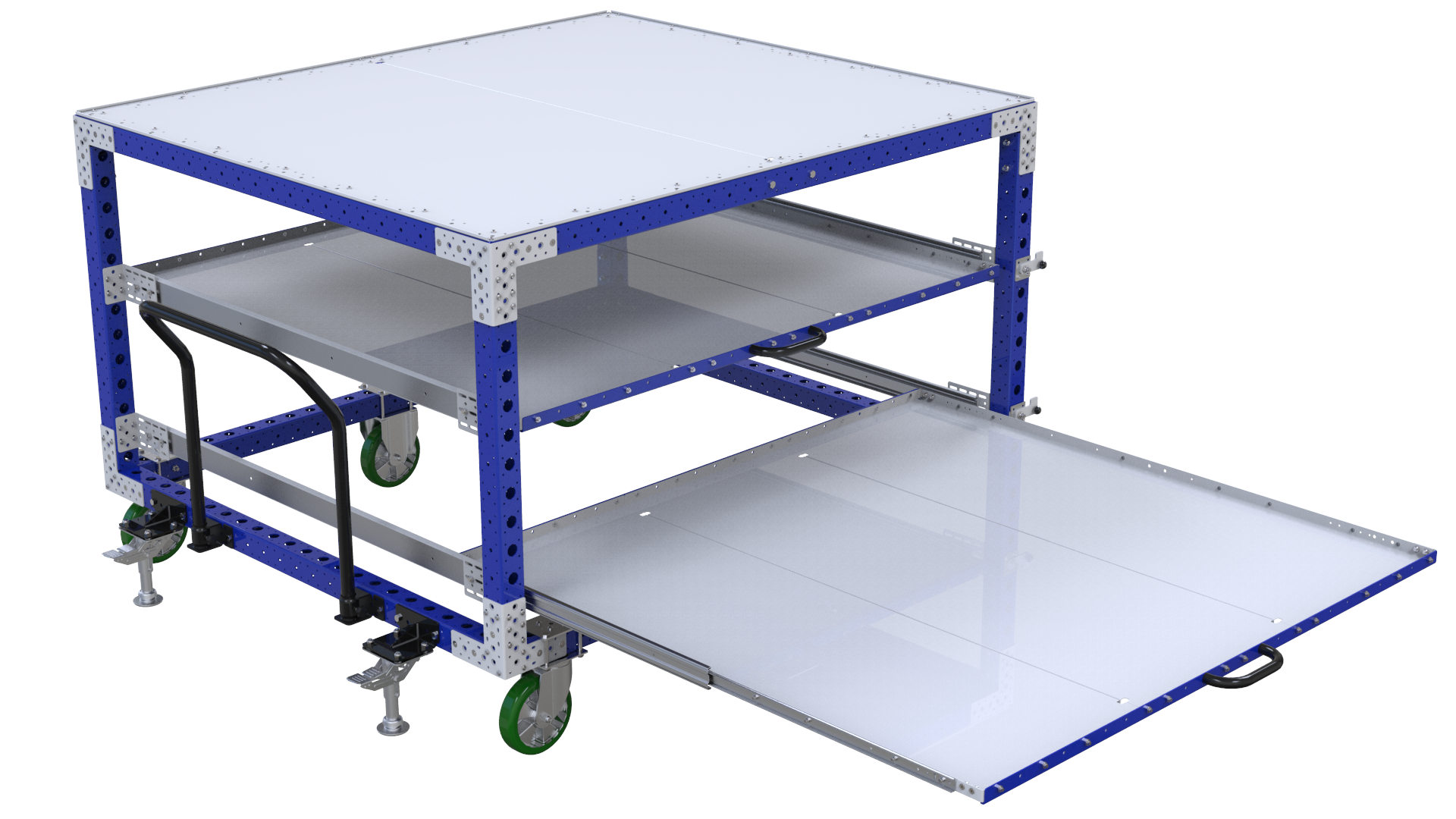 Large extendable shelf cart by FlexQube