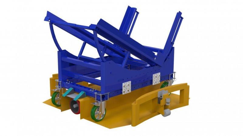 FlexQube tilt cart in a Liftrunner frame