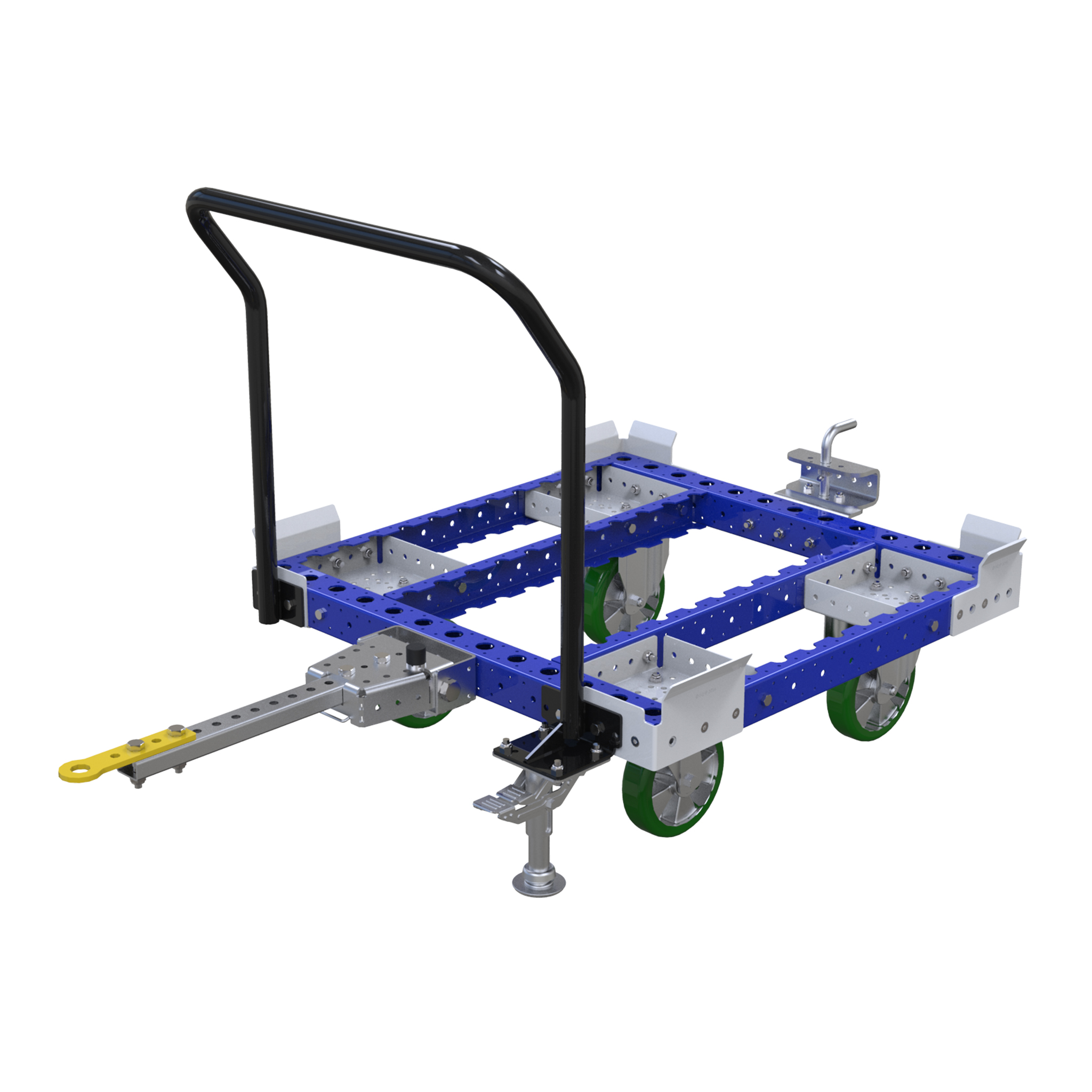 Standard pallet cart used for transporting pallets and containers.