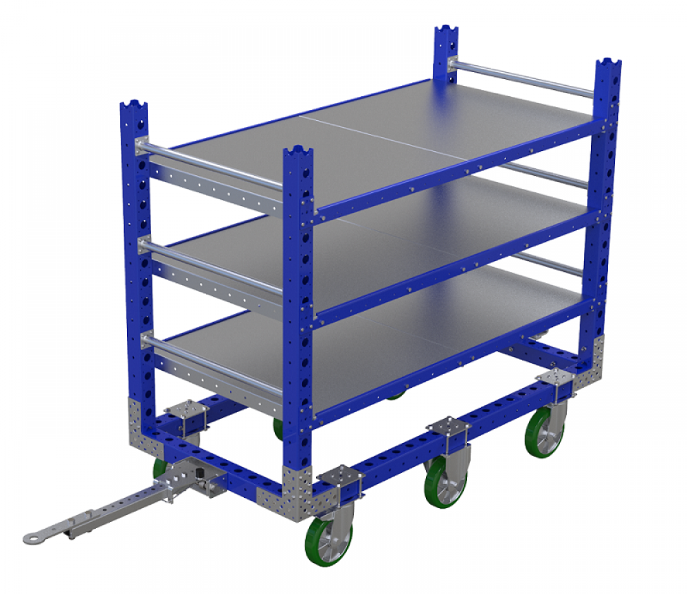 FlexQube flat shelf cart
