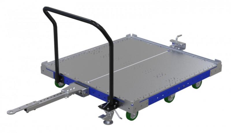 FlexQube 50 x 50 inch tugger cart with handlebar