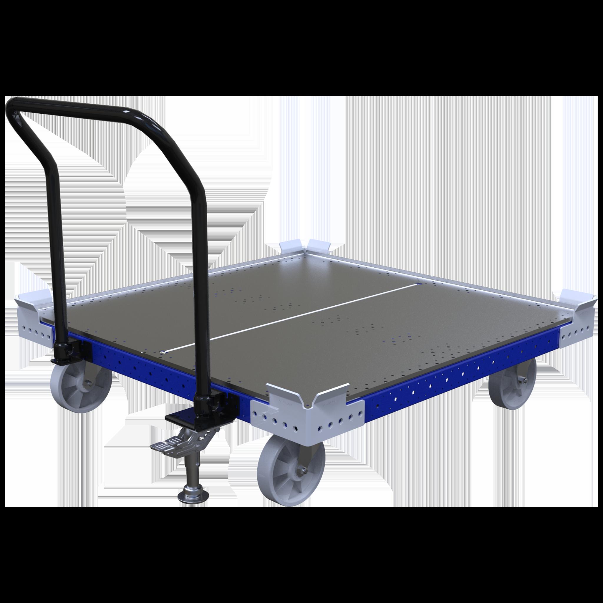 Carro de empuje de plataforma plana - 1260 x 1260 mm