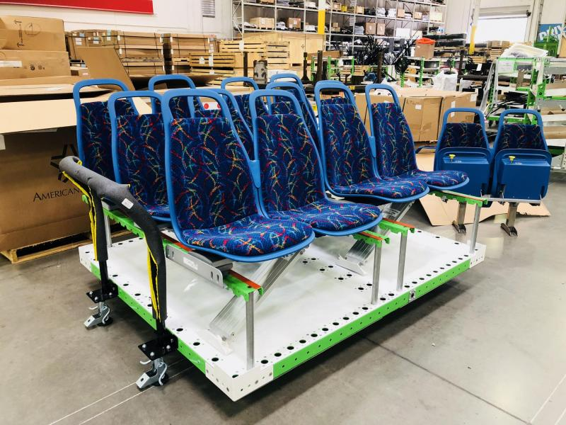 FlexQube material handling cart for seats