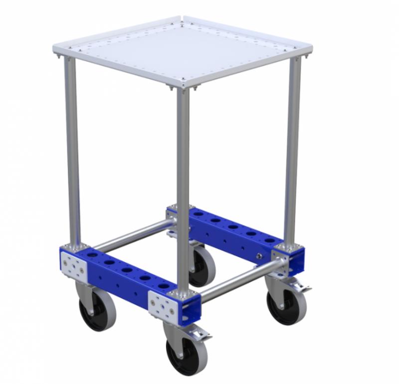 Modular worktable cart by FlexQube