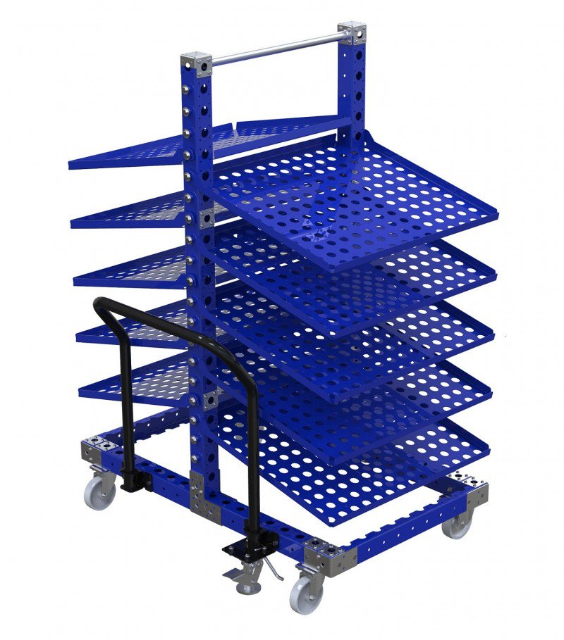 FlexQube removable flow shelf cart