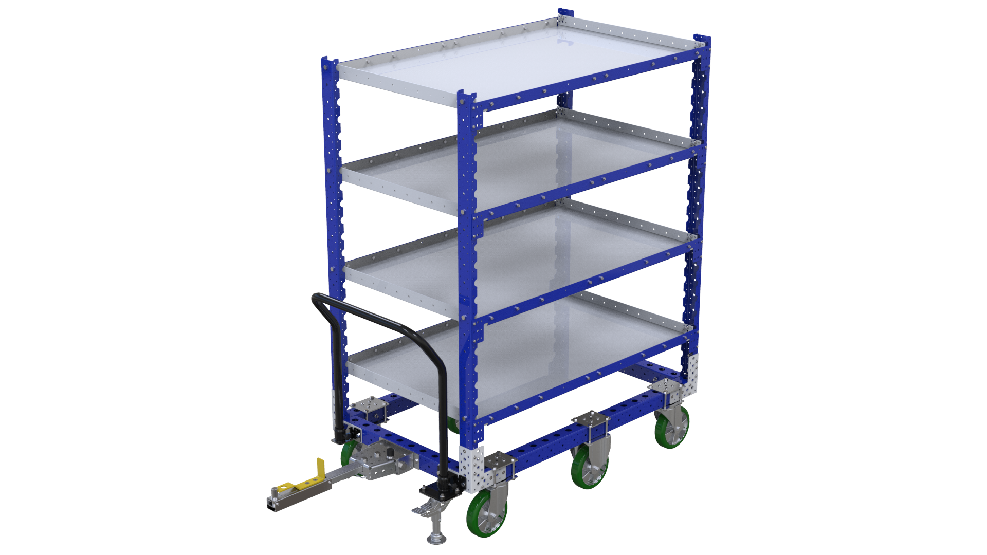 Flat shelf cart designed by FlexQube