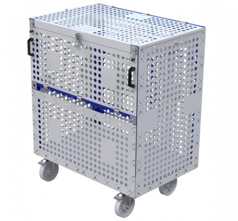 Air freight material cart by FlexQube