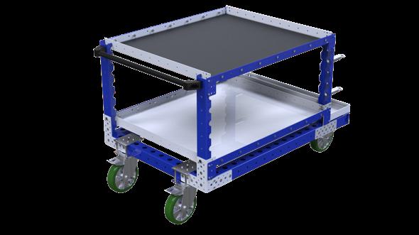 FlexQube shelf cart with handlebar
