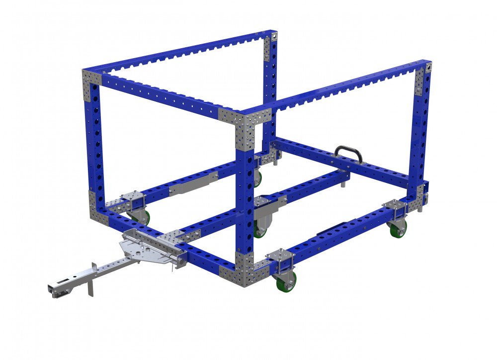 Modular industrial cart for material handling