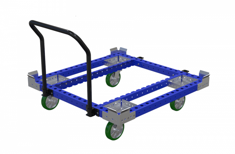 Industrial material handling container cart for Liftrunnr by FlexQube