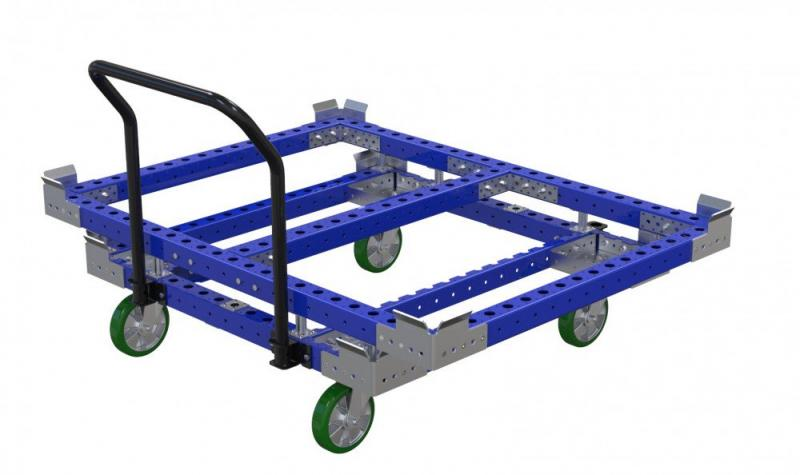 FlexQube container cart used with Liftrunner