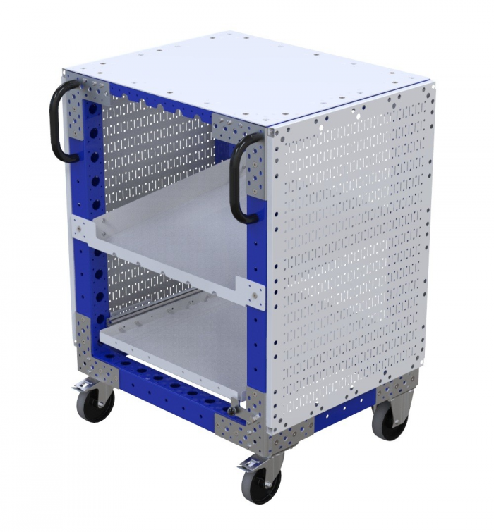 Small cart for along the assembly line by FlexQube