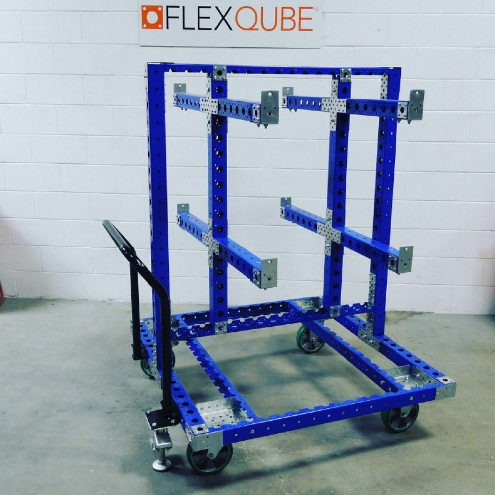 FlexQube hanging cart with handlebar