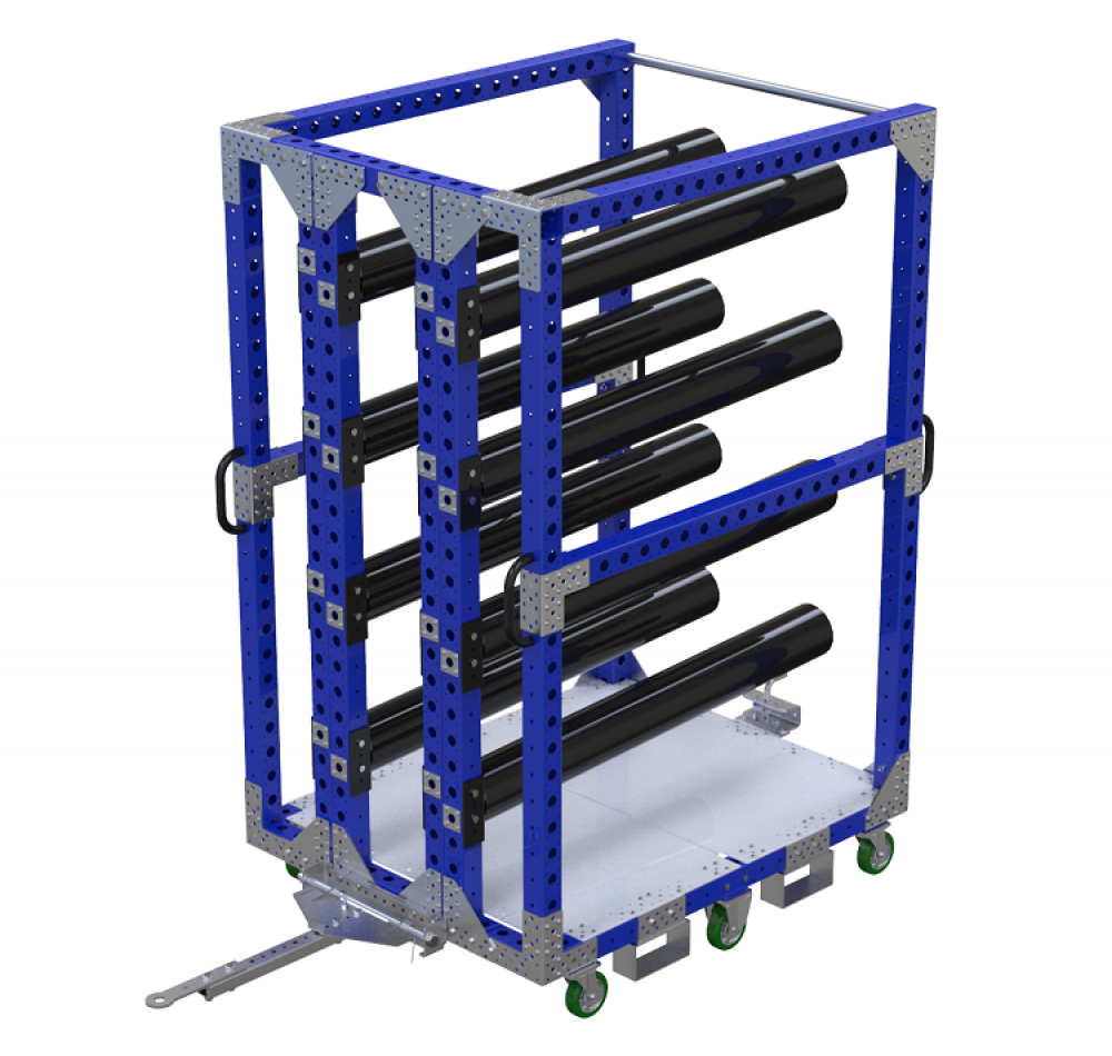 FlexQube Material Handling hanging cart heavy-duty