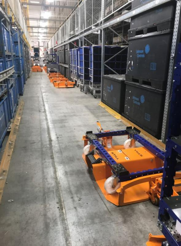 Liftrunner frames with Flexqube pallet carts