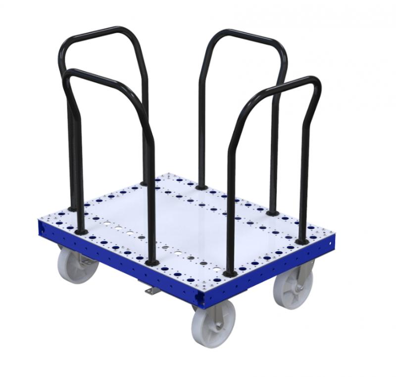 Custom designed pallet cart by FlexQube