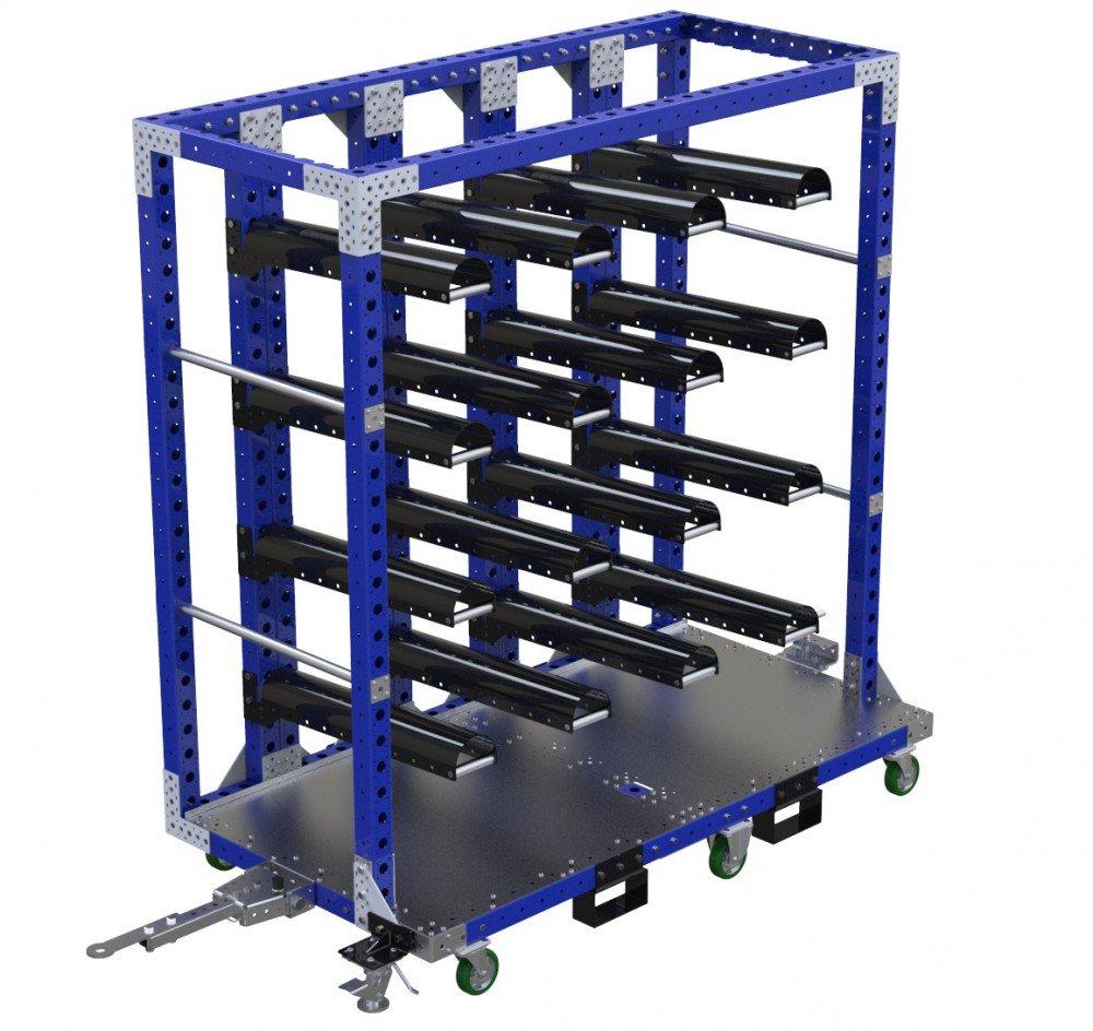 FlexQube Material Handling hanging cart