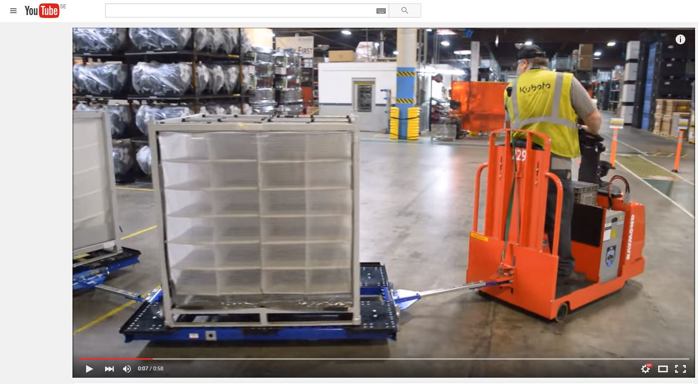 FlexQube pallet carts with raymond tugger