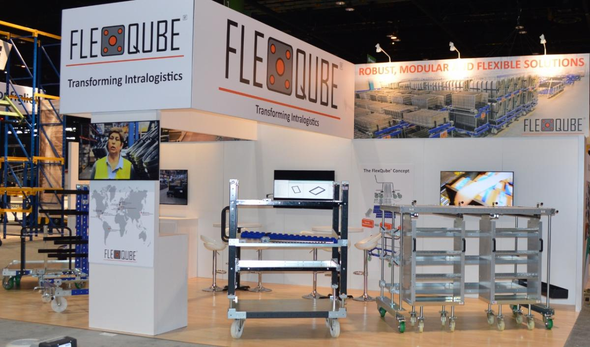 FlexQube booth at proMAT in 2012