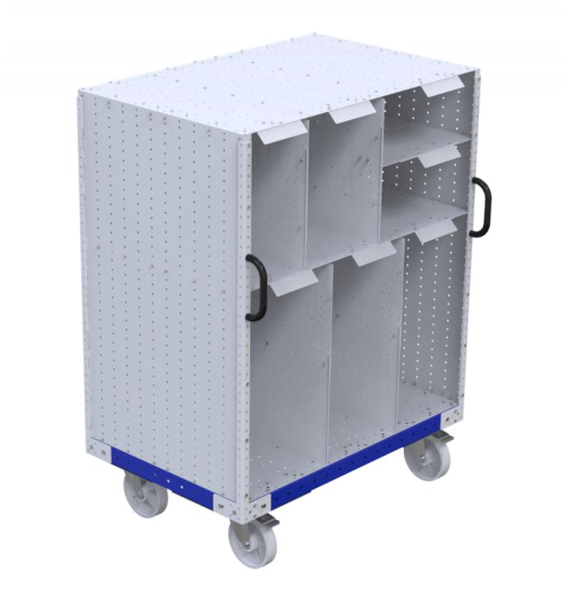 Shelf cart for cardboard by FlexQube