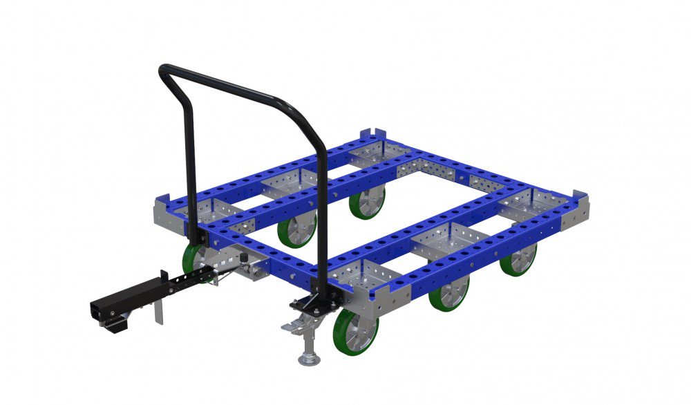 FlexQube tugger cart without flat deck