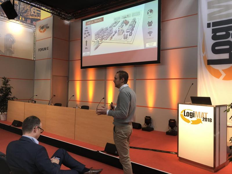 FlexQube's CTO speaking at LogiMAT 2018