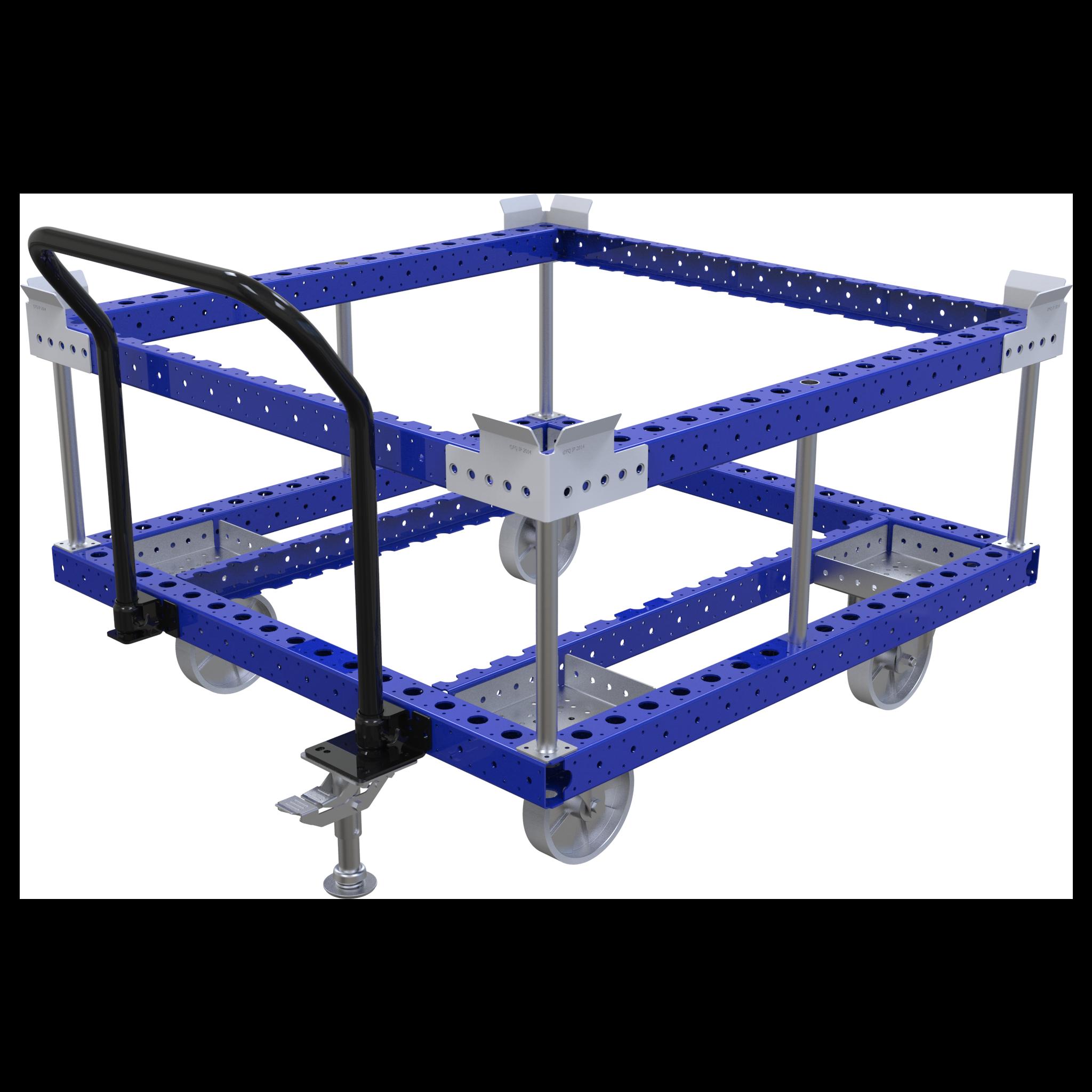 Raised Pallet Push Cart - 1260 x 1260 mm