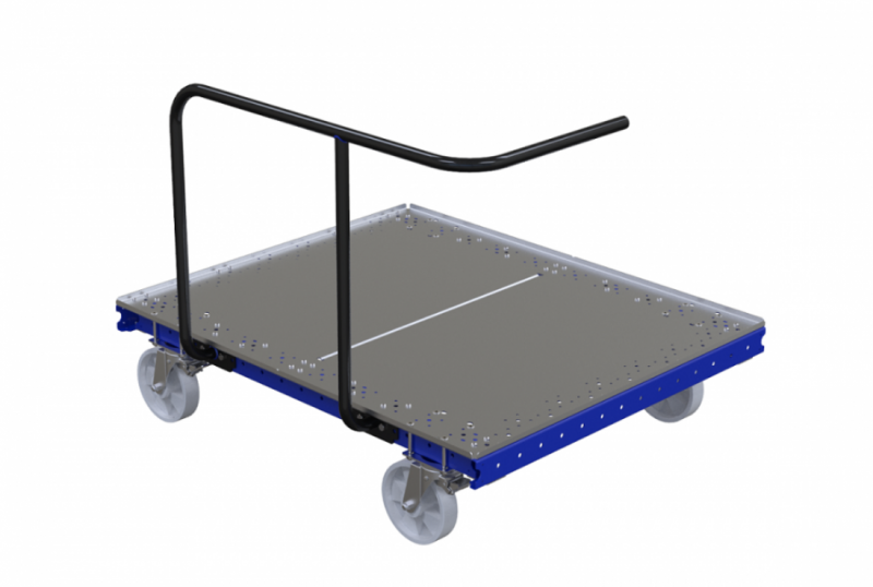 Industiral push cart with steel deck by FlexQube