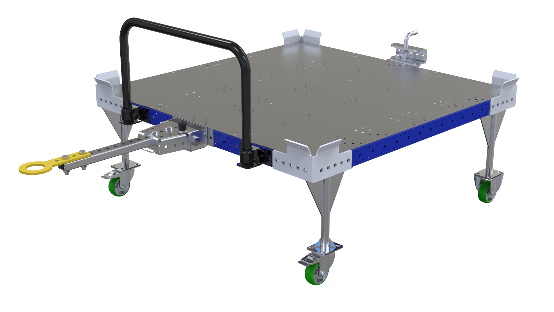 Pallet cart designed to work together with an AGV