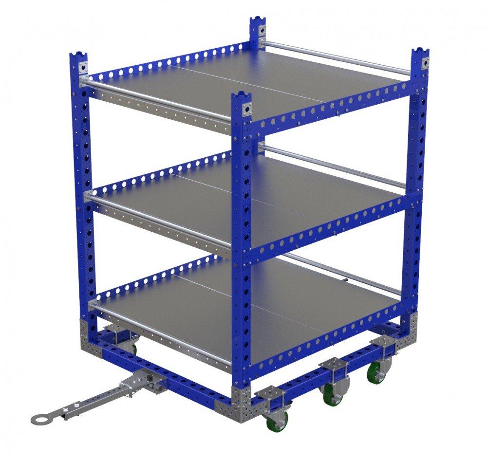 FlexQube Material Handling heavy duty shelf cart