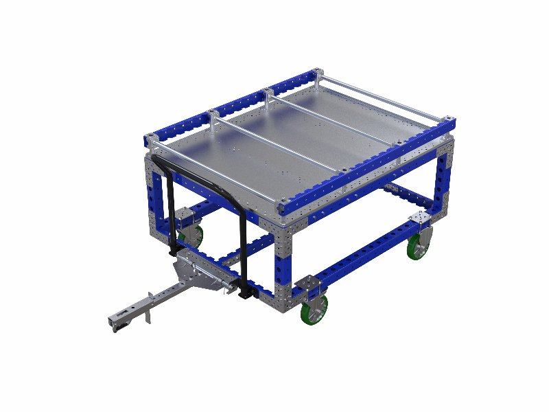 FlexQube cylinder head cart with tow bar