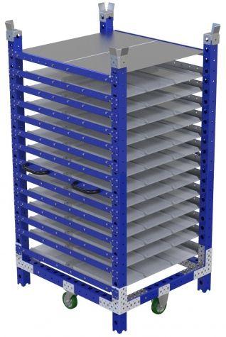 Double Sided Shelf Cart - 1050 x 910 mm