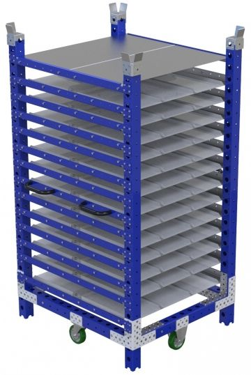 Double Sided Shelf Cart - 1050 x 910 mm