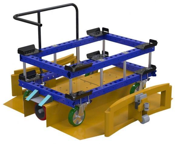 Modular & industrial material handling pallet cart with Liftrunner by FlexQube