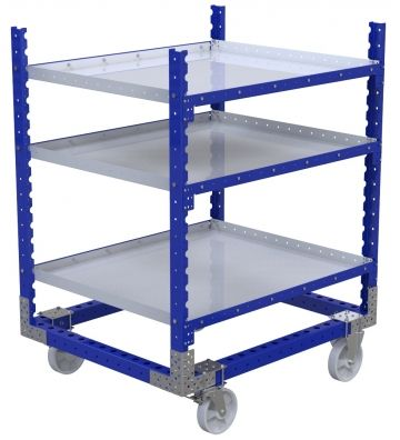 Modular & industrial material handling shelf cart by FlexQube