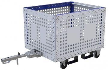 Modular & industrial material handling bin cart by FlexQube