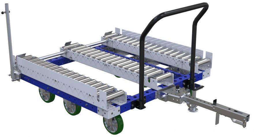 Modular & industrial material handling pallet roller cart by FlexQube