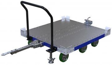 Modular & industrial material handling pallet cart by FlexQube